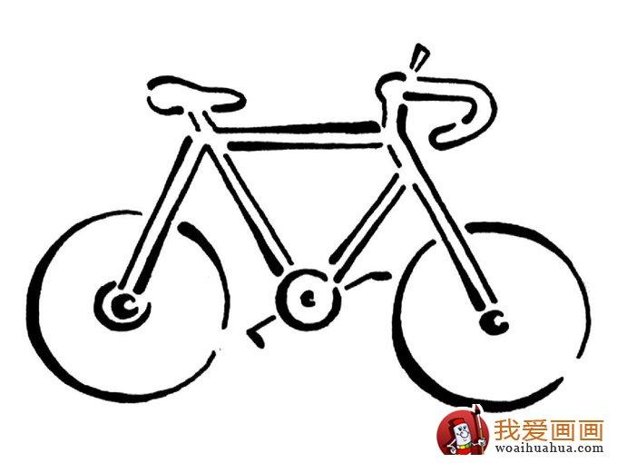 交通工具简笔画图片:自行车简笔画图片-交通工具简笔画图片 简笔画