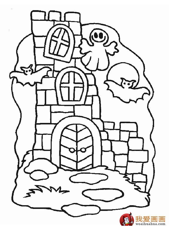 古堡建筑简笔画,简笔画城堡图片大全(8)