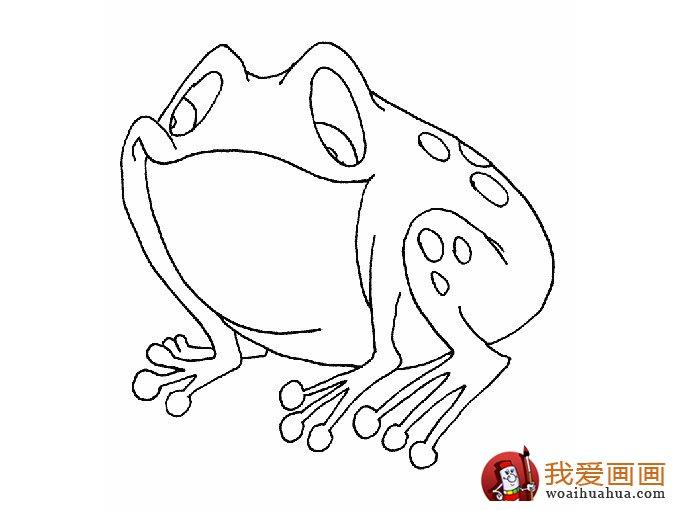 简笔画青蛙,简单的青蛙简笔画图片大全(6)