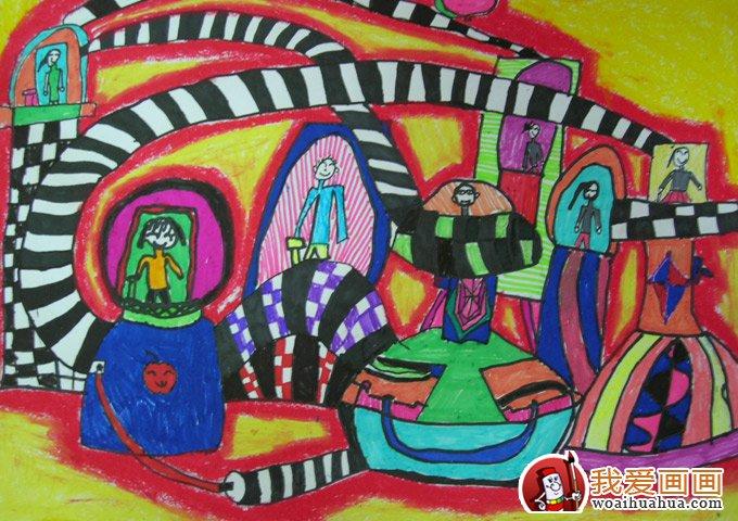 学画画 儿童画教程 科幻画  1,主题应该立足于生活,表现内容符合生活