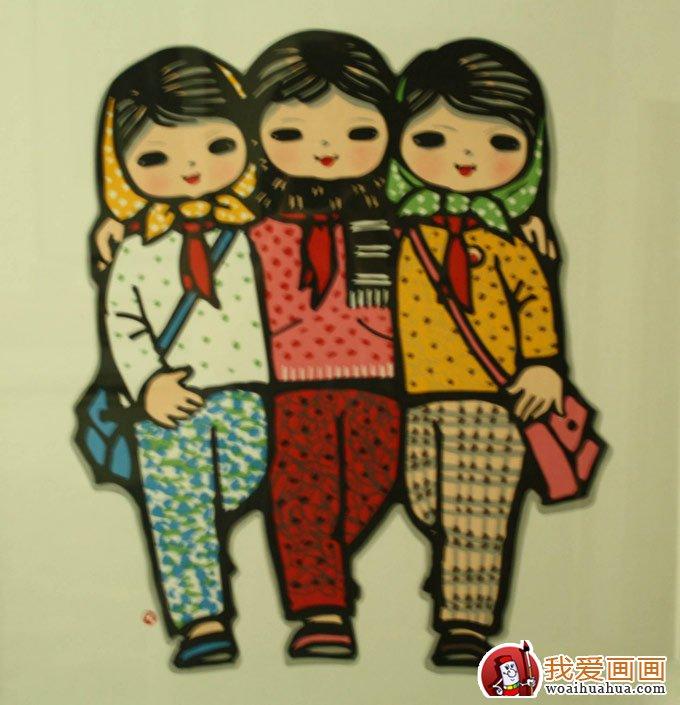 儿童版画作品欣赏_高清儿童版画图片(4)