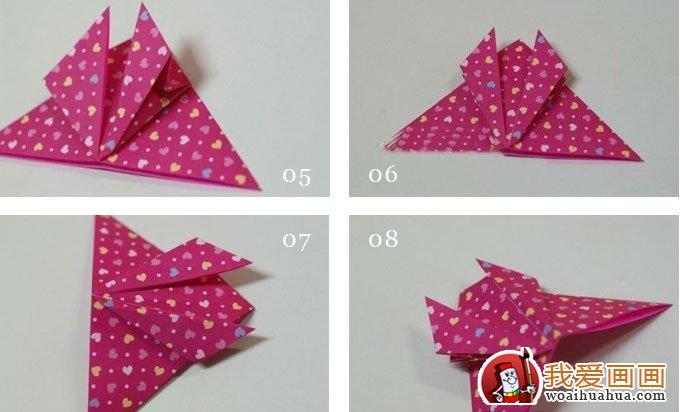 折纸蝴蝶教程:漂亮的纸蝴蝶折纸方法和步骤图解