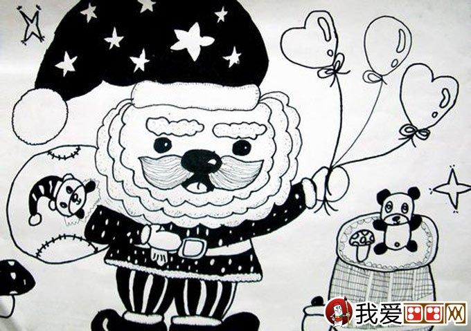 线描儿童画 优秀黑白线描儿童画大图欣赏图片
