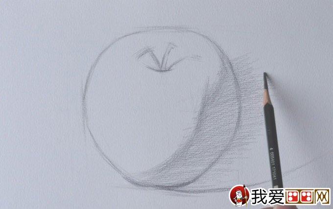 正立面苹果素描写生绘画教程详细步骤-强烈推荐(2)