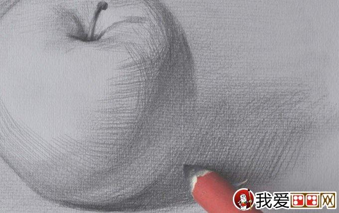 正立面苹果素描写生绘画教程详细步骤-强烈推荐(7)图片