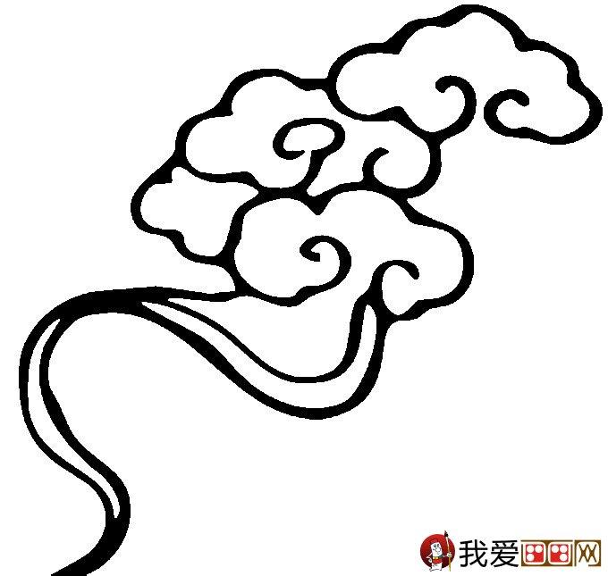 简笔画云彩图片:祥云的简笔画图片大全(3)