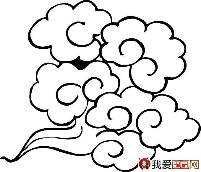 简笔画云彩图片:祥云的简笔画图片大全(4)_儿童画教程