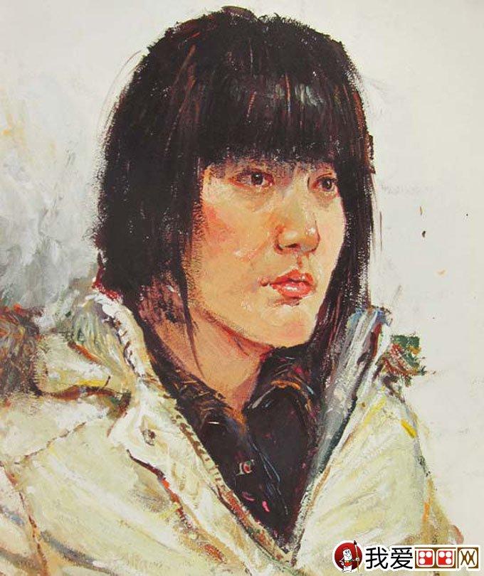 半身人物写生:清华大学美术学院2010年优秀人物色彩试卷(3)