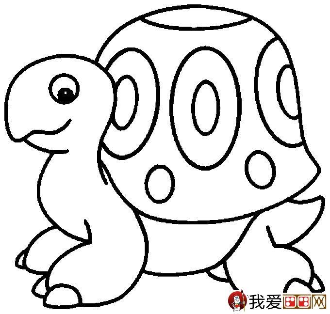 乌龟简笔画图片大全:12个可爱的小乌龟(2)