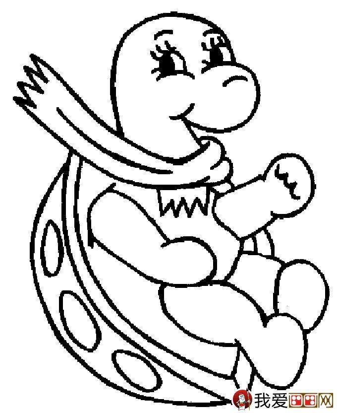 乌龟简笔画图片大全:12个可爱的小乌龟(5)