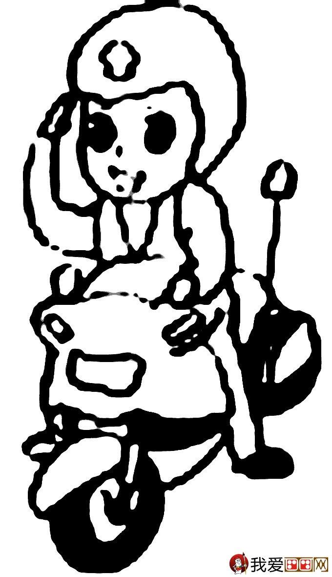 警察和交警叔叔简笔画:关于警察的简笔画图片大全(4)