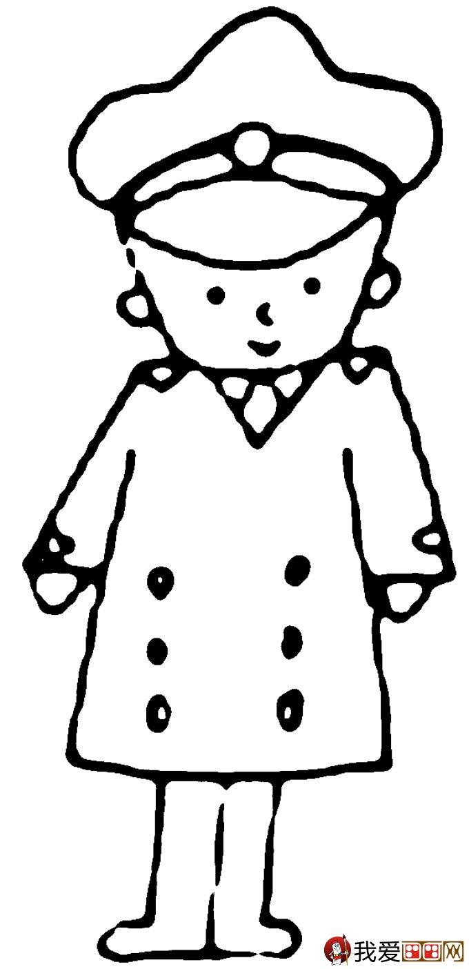 警察和交警叔叔简笔画:关于警察的简笔画图片大全(5)