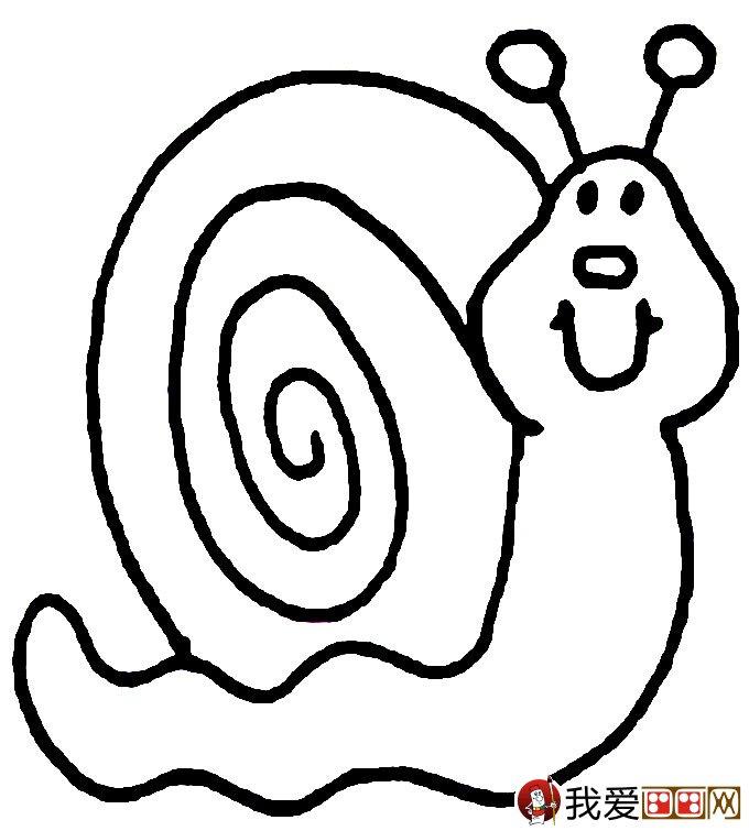 幼儿简笔画蜗牛:可爱小蜗牛简笔画图片大全(2)