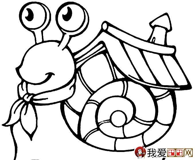 幼儿简笔画蜗牛:可爱小蜗牛简笔画图片大全(3)