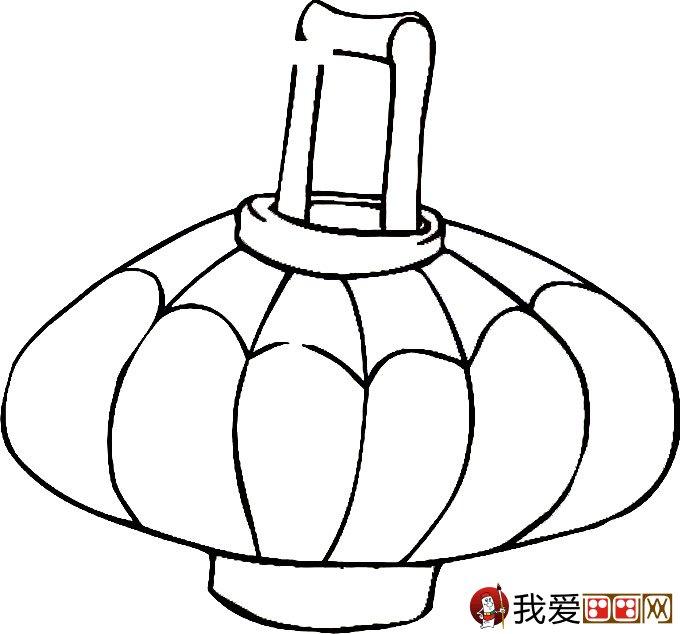 灯笼简笔画图片大全:新年和春节简笔画灯笼(3)_儿童画