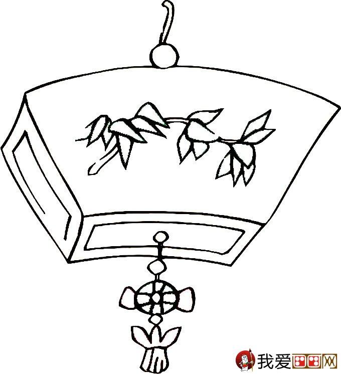 灯笼简笔画图片大全:新年和春节简笔画灯笼(3)