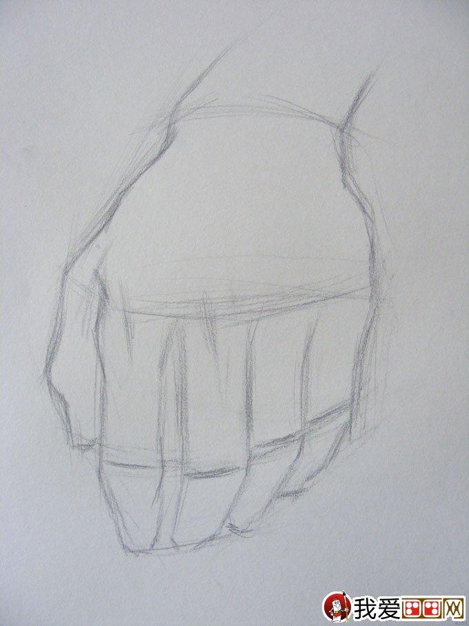 素描手的画法:手的素描写生教程图文步骤(2)