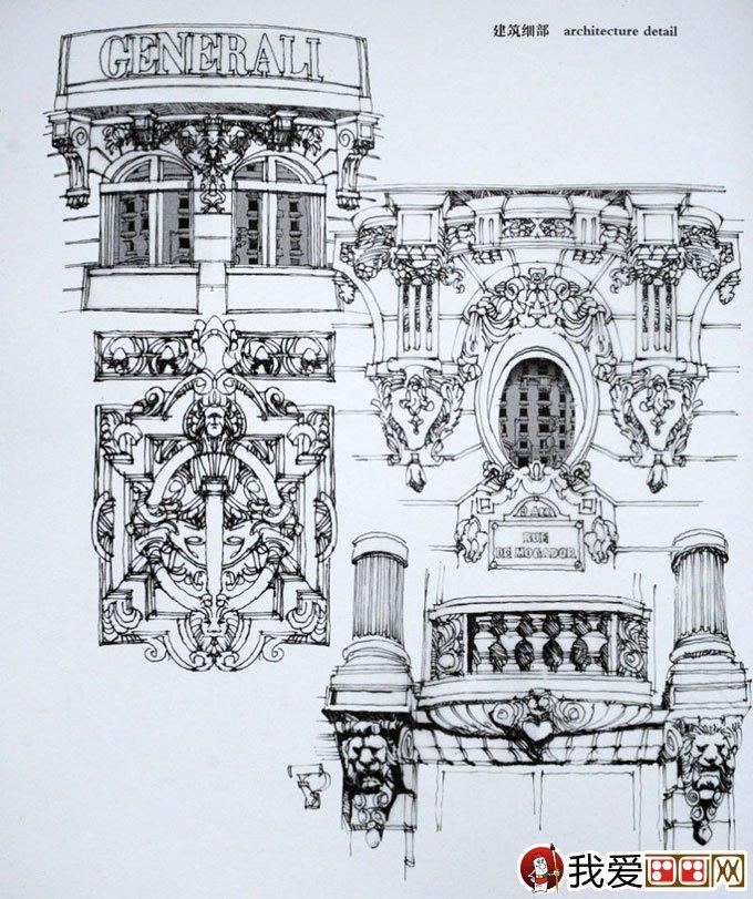 陈新生钢笔画作品:钢笔手绘巴黎建筑图13p(5)