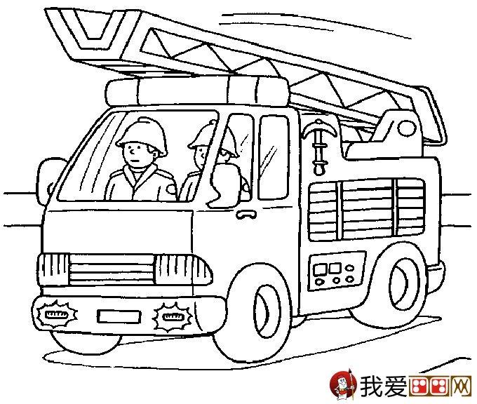 交通工具简笔画图片,消防车2017-11-09