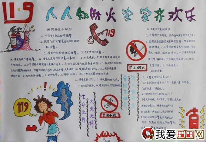 消防安全手抄报版面设计图大全高清大图12副(5)