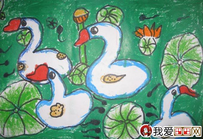 幼儿油画棒绘画作品:动物油画棒儿童画大全(3)