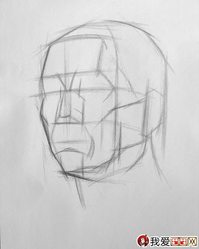 如何绘制素描头像结构图:素描头像结构分析图教程(2)