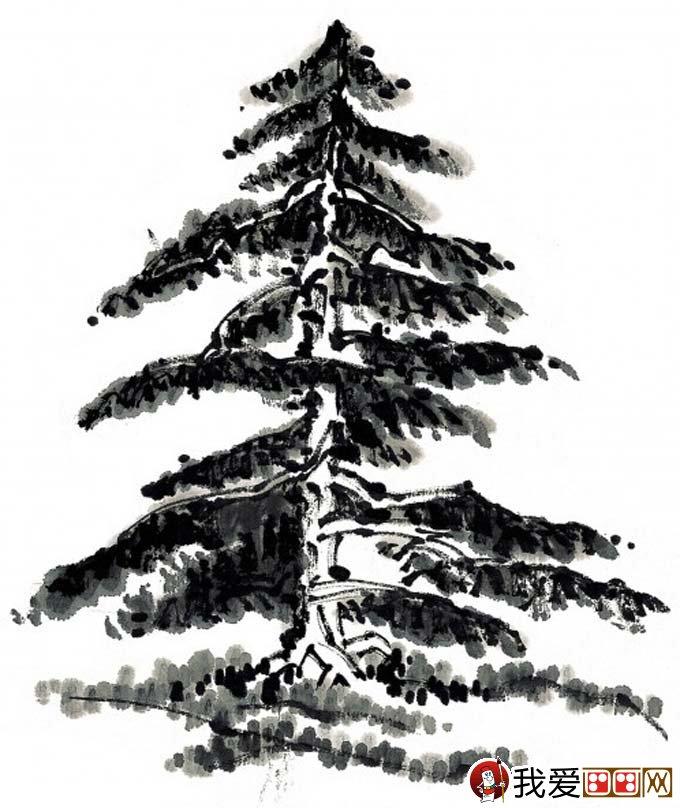 国画松树的画法:松柏松树水墨画图片大全69p之水墨篇