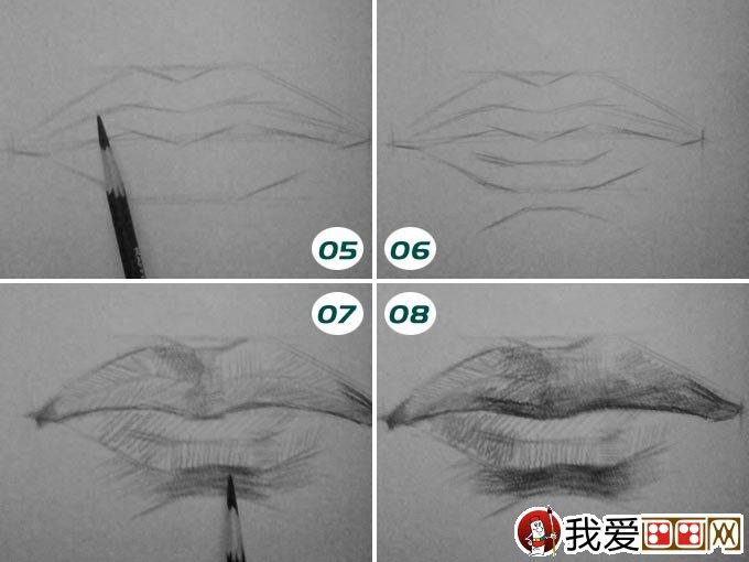 素描嘴巴的画法 人物嘴部素描绘画图文教程
