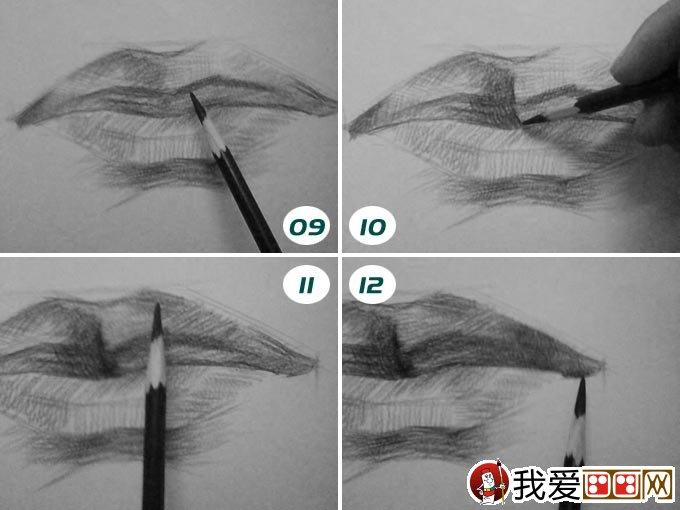 素描嘴巴的画法 人物嘴部素描绘画图文教程(2)