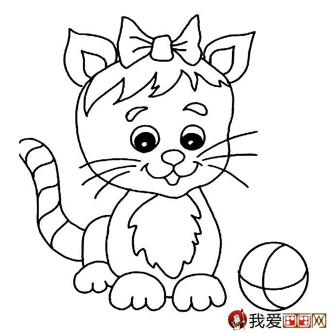 动物好朋友简笔画
