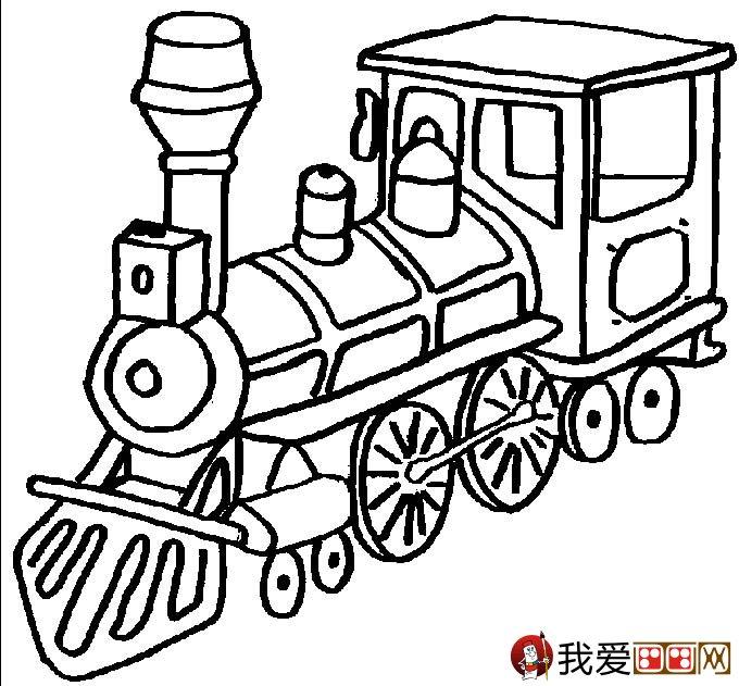 儿童简笔画火车 有关火车简笔画图片大全(2)