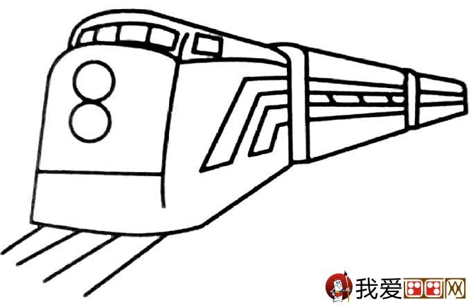 儿童简笔画火车 有关火车简笔画图片大全(6)