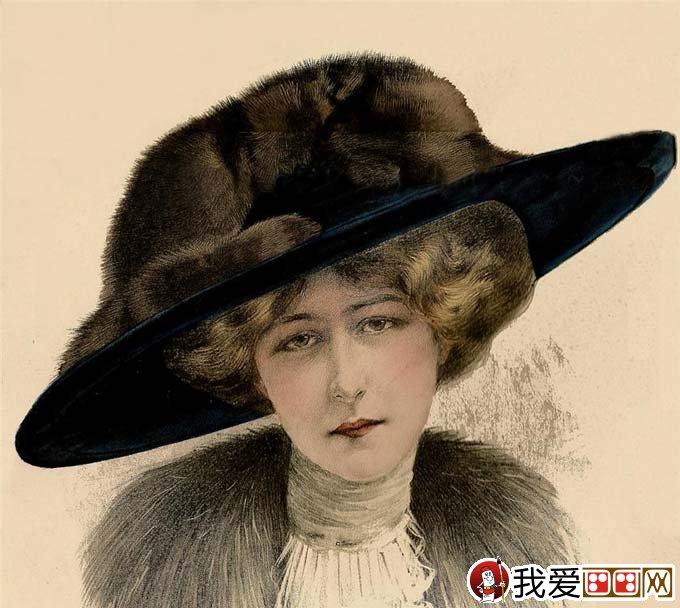 学画画 素描教程 素描头像     超级写实素描:欧洲古典美女头像彩色