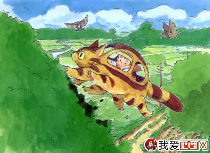 宫崎骏作品:宫崎骏动漫绘画手绘稿作品大全(二)(2)