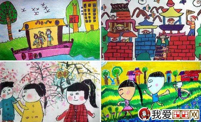 儿童画春游 关于春天春游的儿童画图片大全(4)