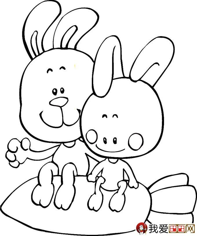 小兔子简笔画,兔子简笔画图片,卡通兔子简笔画,最可爱的兔子简笔画