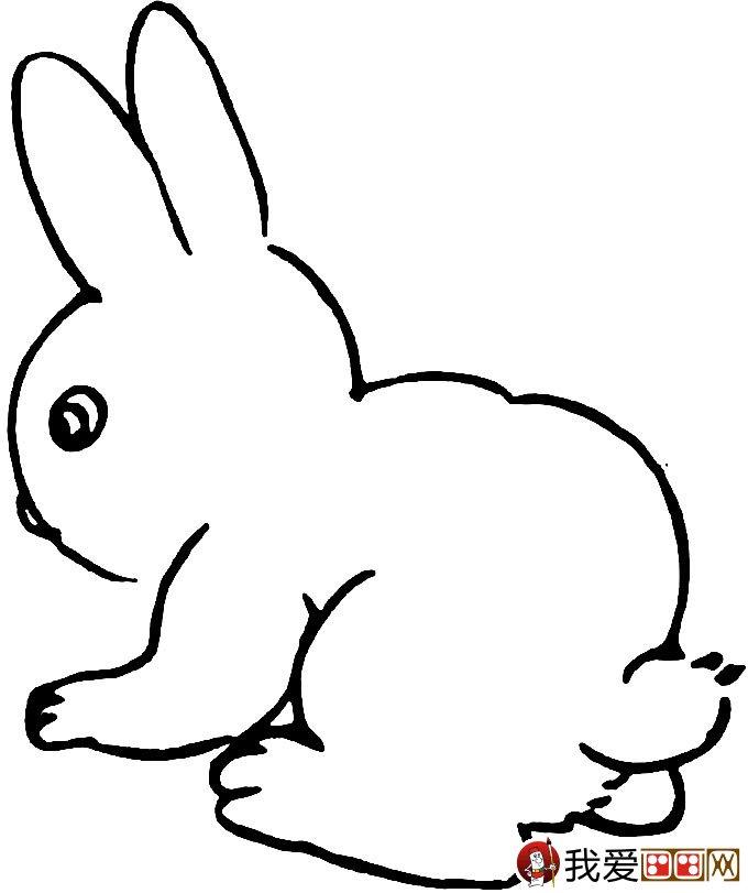 可爱的兔子简笔画图片大全(4)_儿童画教程_学画画_我