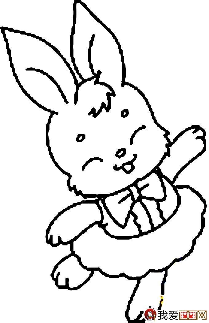 小兔子简笔画,兔子简笔画图片,卡通兔子简笔画,最可爱的兔子简