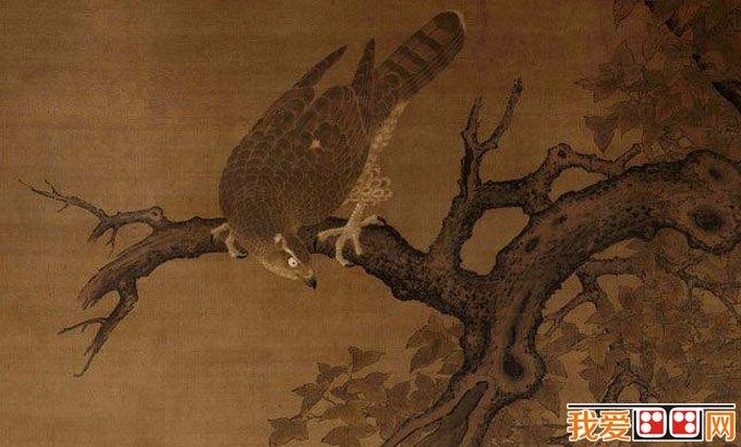 李迪《枫鹰雉鸡图》_宋代巨幅院体工笔花鸟画杰作(2)