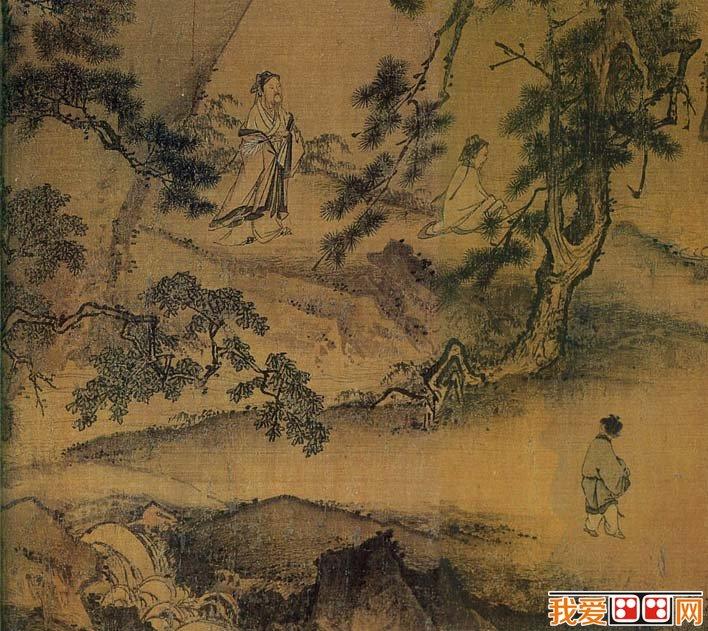 马远人物风景画《西园雅集图》局部高清大图02