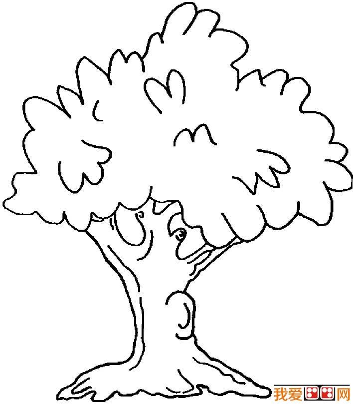雨中的树简笔画
