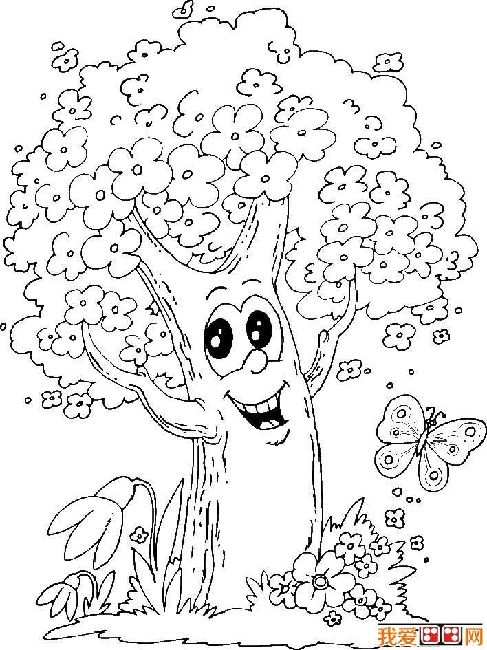 大树简笔画,各种各样的树简笔画图片(5)图片