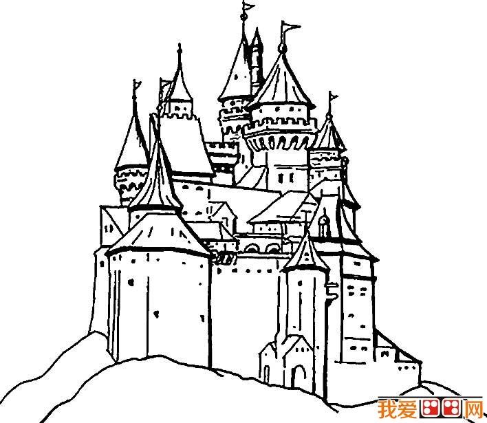 童话城堡简笔画图片大全(2)