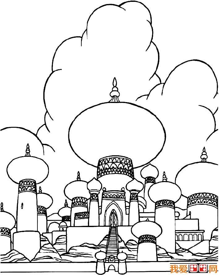 童话中的城堡简笔画,童话城堡简笔画图片大全(3)