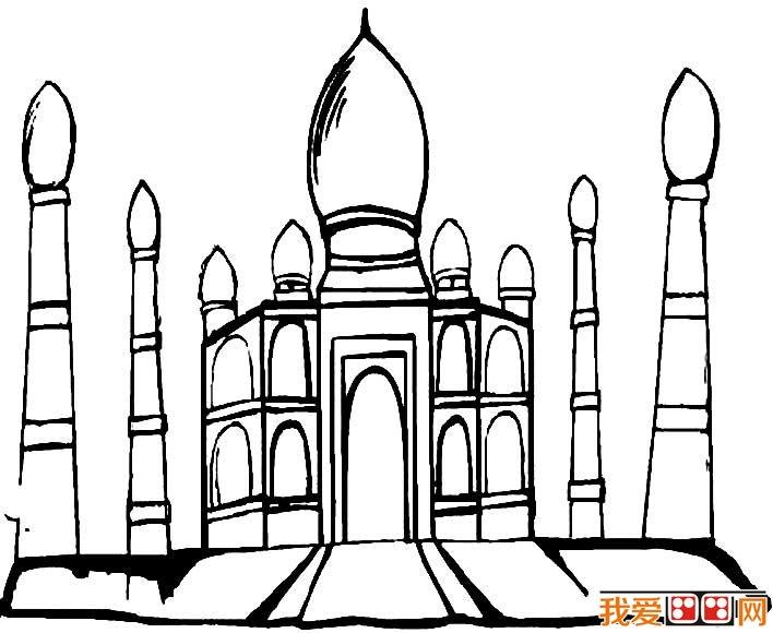 童话中的城堡简笔画,童话城堡简笔画图片大全(4)