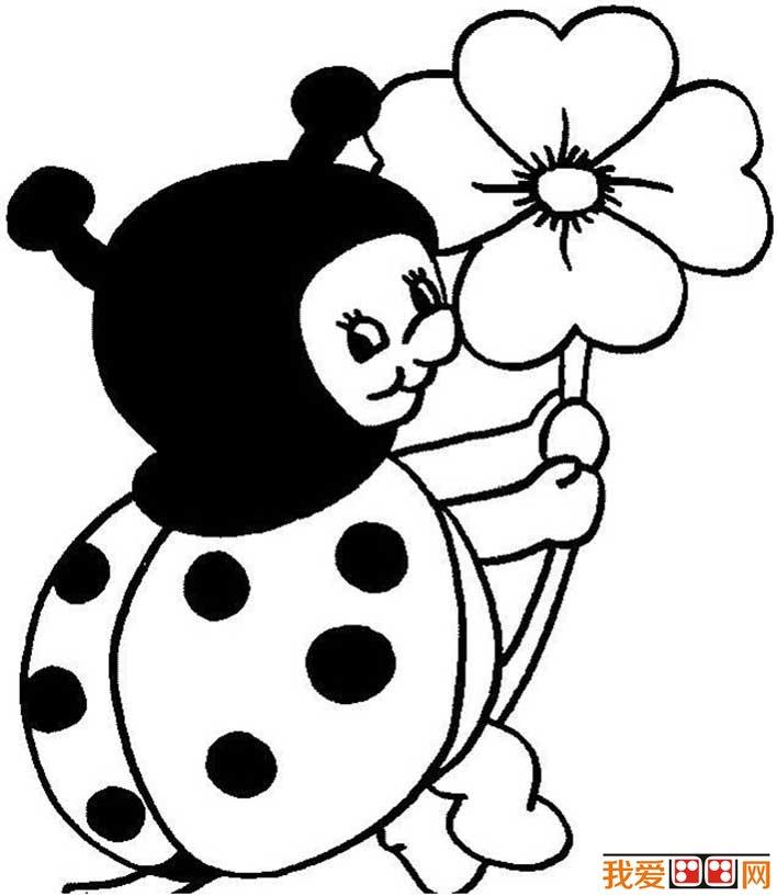七星瓢虫简笔画图片大全 可爱的简笔画七星瓢虫图片(4