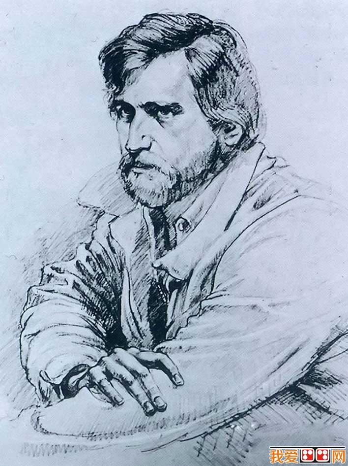 学画画 油画教程 人物油画     委罗内塞不是以 肖像画闻名,但他在
