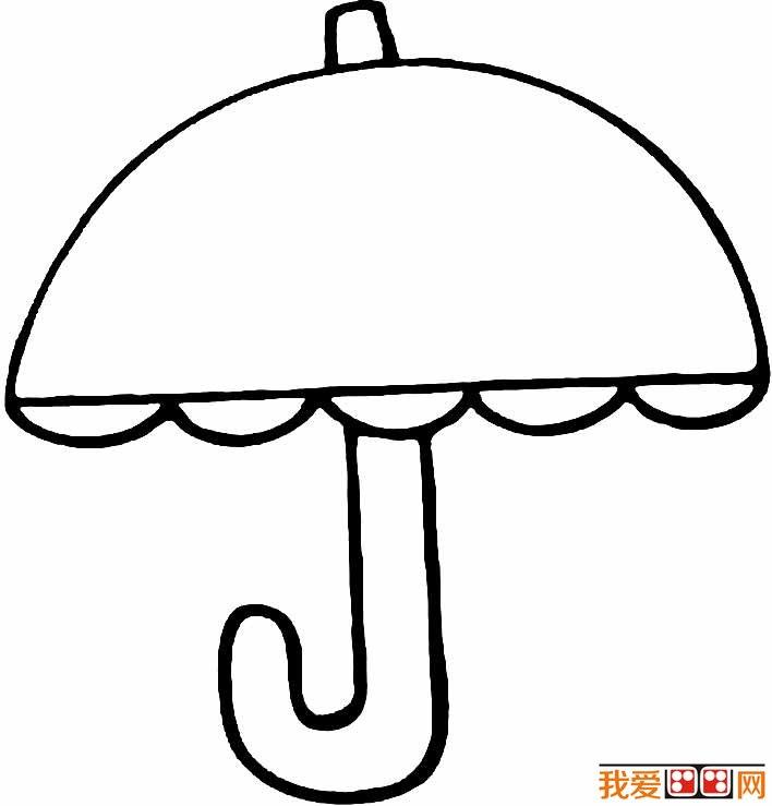 雨伞简笔画图片大全 各种各样的小雨伞简笔画 2