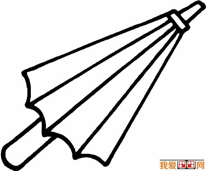 雨伞简笔画图片大全 各种各样的小雨伞简笔画_儿童画