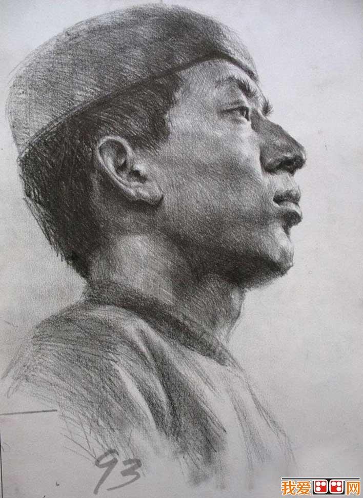素描头像作品欣赏,素描头像图片高清大图,提供人物 头像素描, 铅笔画